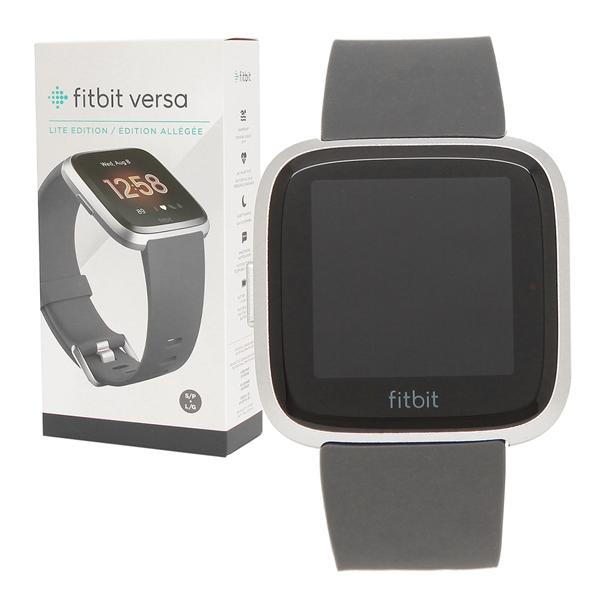 Fitbit 腕時計 スマートウォッチ レディース メンズ フィットビット FB415SRGY チャコール シルバー