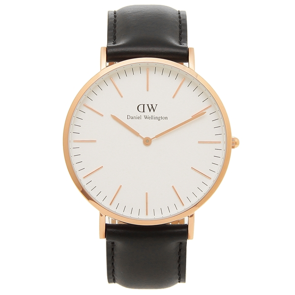 Daniel Wellington 腕時計 メンズ ダニエルウェリントン DW00600007 ブラック ローズゴールド