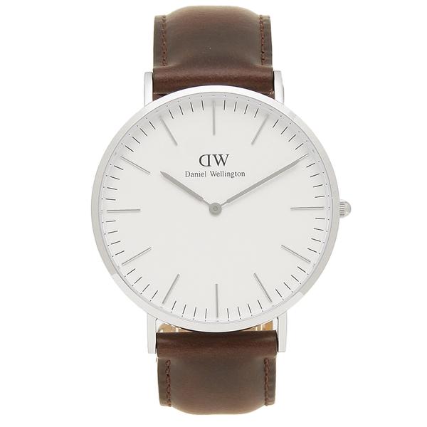 Daniel Wellington 腕時計 メンズ ダニエルウェリントン DW00600023 シルバー ブラウン