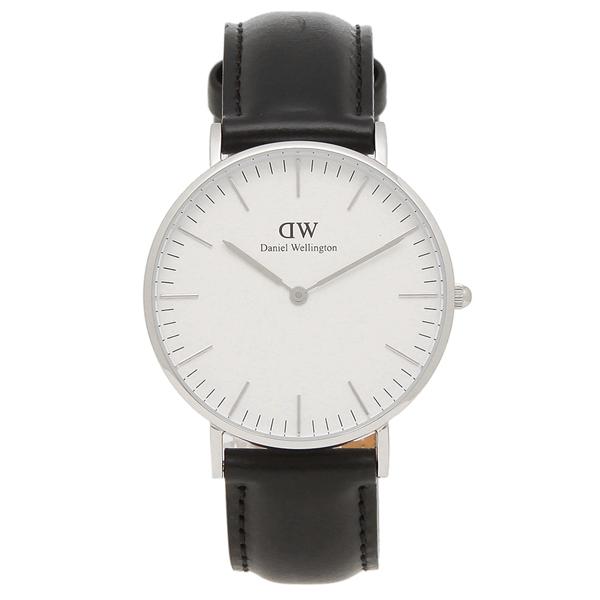 Daniel Wellington 腕時計 レディース メンズ ダニエルウェリントン DW00600053 ブラック シルバー