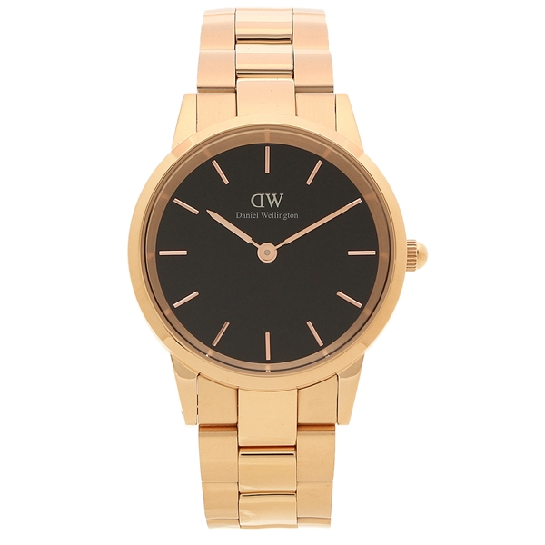 Daniel Wellington 腕時計 レディース メンズ ダニエルウェリントン DW00600210 ローズゴールド ブラック