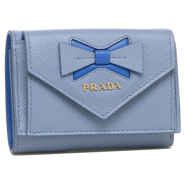 PRADA 折財布 レディース プラダ 1MH021 2B7S F0YBN ブルー