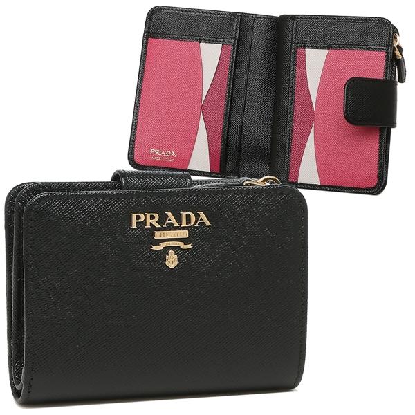 PRADA 折財布 レディース プラダ 1ML018 ZLP F061H ブラック