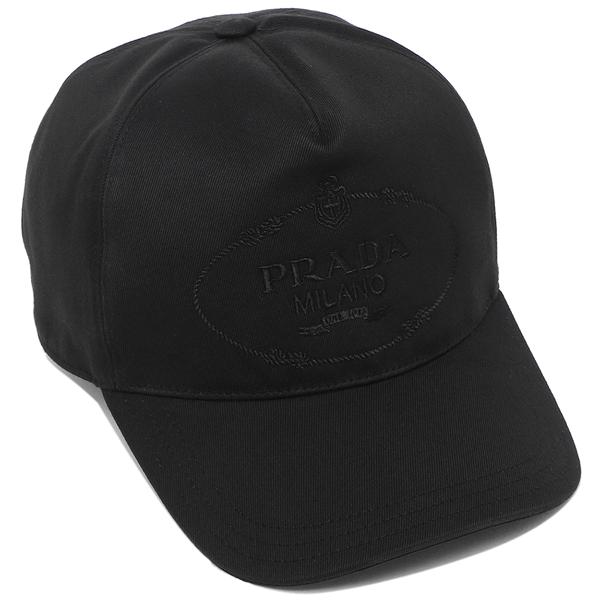 PRADA 帽子 メンズ レディース プラダ 2HC179 2DB1 F0002 ブラック