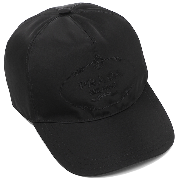 PRADA 帽子 メンズ レディース プラダ 2HC179 2EK1 F0002 ブラック