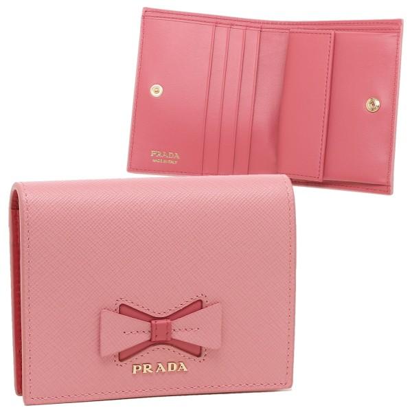 PRADA 折財布 レディース プラダ 1MV204 2B7S F0BTZ ピンク