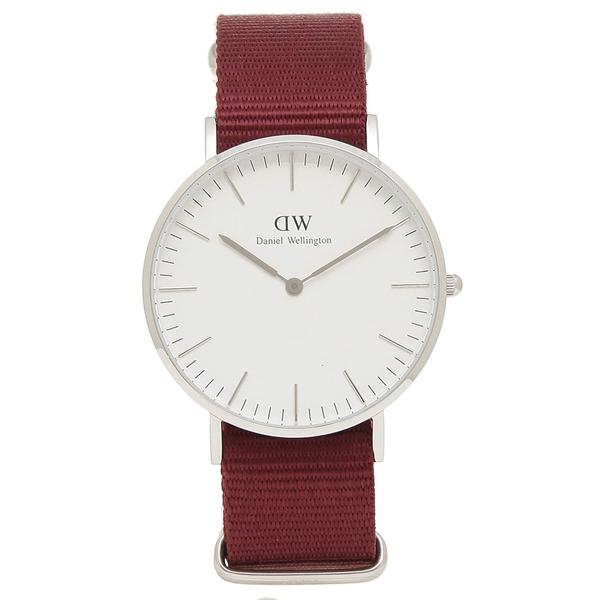 Daniel Wellington 腕時計 レディース メンズ ダニエルウェリントン DW00600272 ROSELYN ロゼリン 36MM レッド シルバー