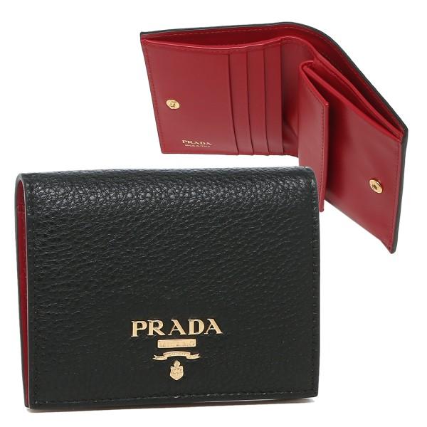 PRADA 折り財布 レディース プラダ 1MV204 2BG5 F0LJ4 ブラック