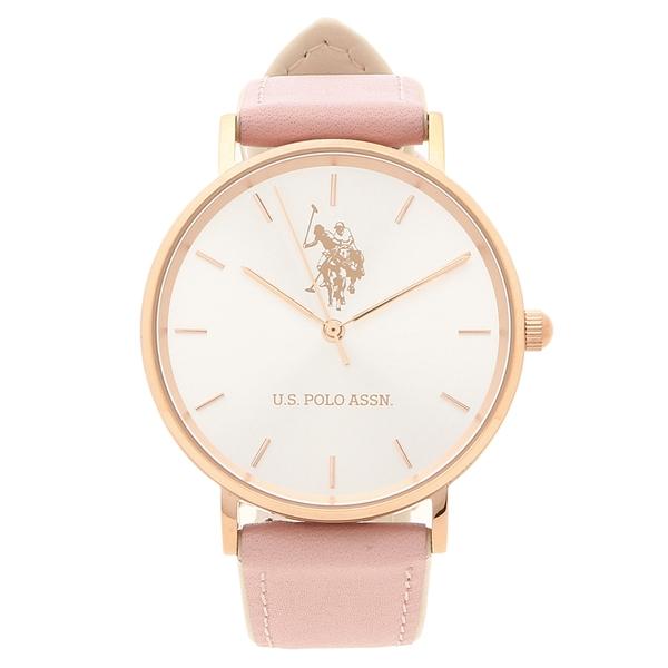 US POLO ASSN 腕時計 レディース メンズ ユーエスポロ US-1F-SILP シルバー/ピンク
