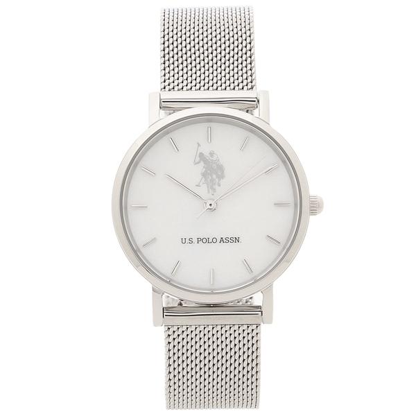 US POLO ASSN 腕時計 レディース メンズ ユーエスポロ US-4A-WHSS シルバー/ホワイト