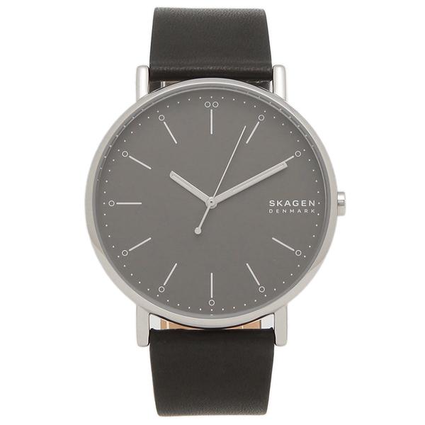 SKAGEN 腕時計 メンズ スカーゲン SKW6528 SIGNATUR シグネチャー 45MM ブラック グレー
