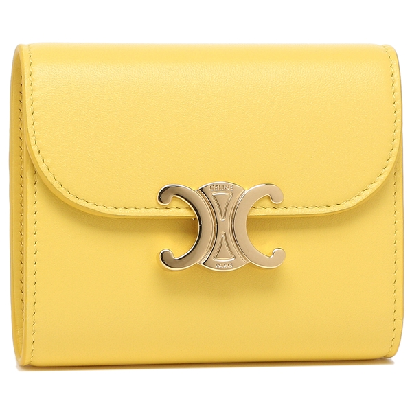 CELINE 折り財布 レディース トリオンフ セリーヌ 10D78 3BZG 11CT イエロー