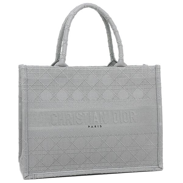 Christian Dior トートバッグ ブックトート 今だけスーパーセール限定 Sサイズ カナージュ エンブロイダリー ZREY A4対応 値引き グレー M1296 レディース クリスチャンディオール 950U