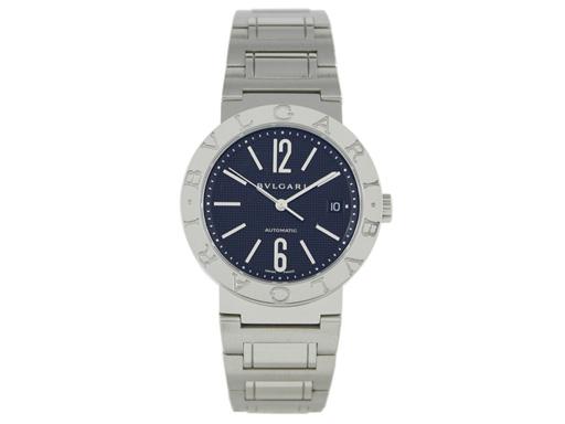 ブルガリ 時計 BVLGARI 腕時計 メンズブルガリ ブラック SSブレス AUTO 自動巻き BB38BSSD シリアル有