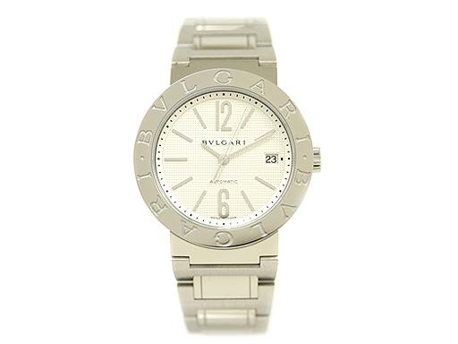 ブルガリ 時計 BVLGARI 腕時計 メンズブルガリ SSブレス ホワイト AUTO BB38WSSD/N ウォッチ シリアル有