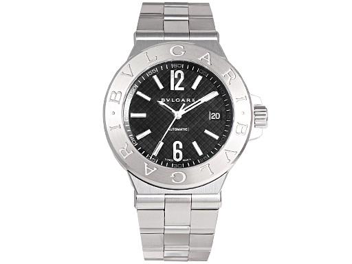 ブルガリ 時計 BVLGARI 腕時計 メンズ ディアゴノ クラシック オートマチック ブラック DG40BSSD ウォッチ シリアル有
