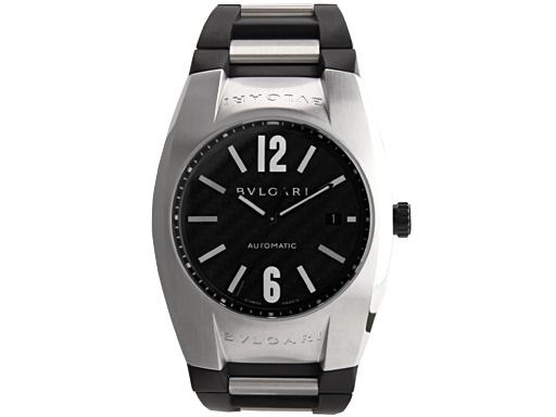 the latest 0db6e bb1d9 Bvlgari Watches BVLGARI watches mens Ergon automatic rubber black & silver  / carbon black EG40BSVD watch serial aerobic