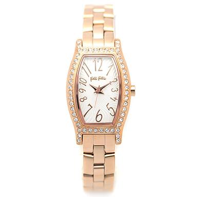フォリフォリ 時計 FOLLI FOLLIE 腕時計 レディース WF8B026BPS ホワイト/ピンクゴールド ウォッチ