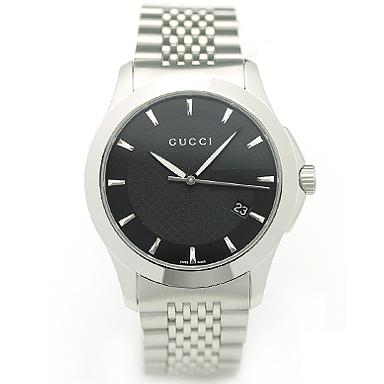 GUCCI グッチ YA126402 ミディアム バージョン Gタイムレス コレクション腕時計 メンズウォッチ シルバー/ブラック/シルバー