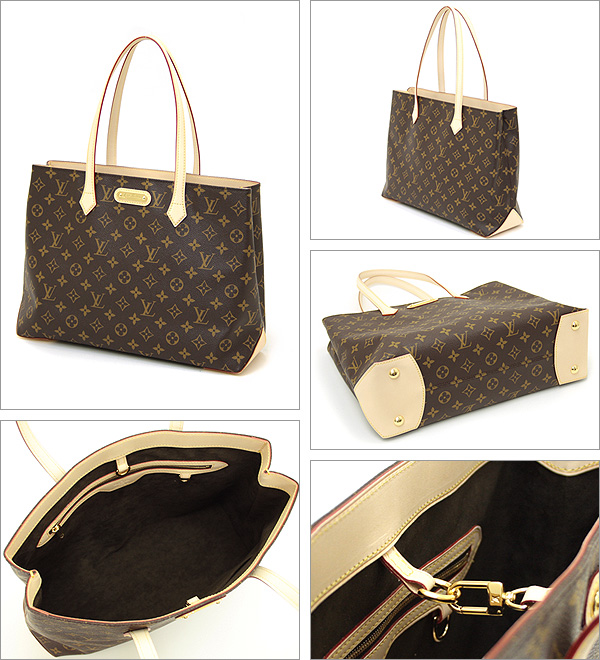 Louis Vuitton bag LOUIS VUITTON Vuitton M45644 Monogram Wilshire MM tote bag
