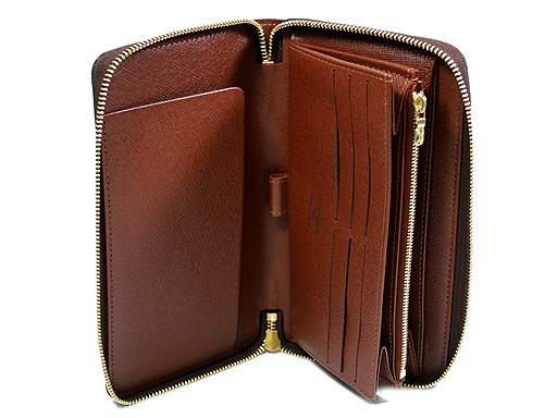 Louis Vuitton wallets LOUIS VUITTON Vuitton wallet M60002 Monogram zippy Organizer large zip around wallets