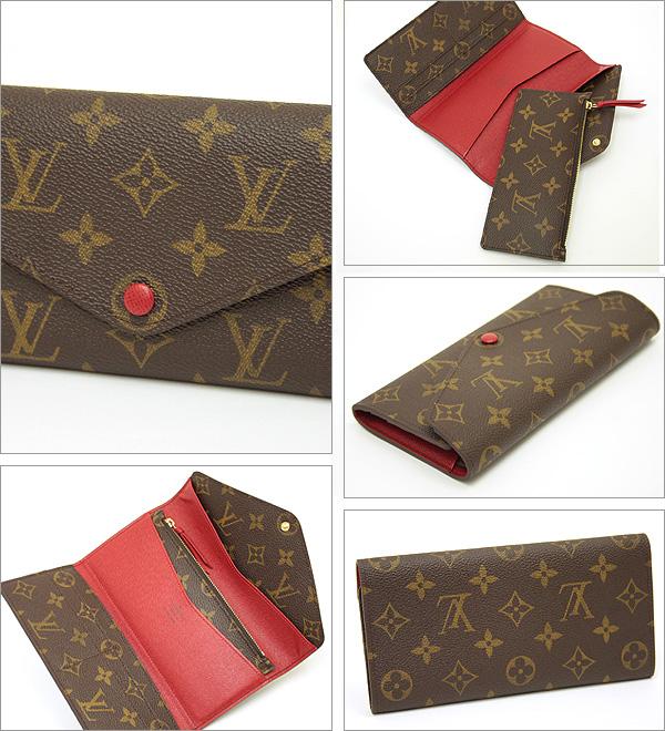 Louis Vuitton Vuitton wallets LOUIS VUITTON wallets M60139 Monogram portofouillejosefienu long wallet Rouge