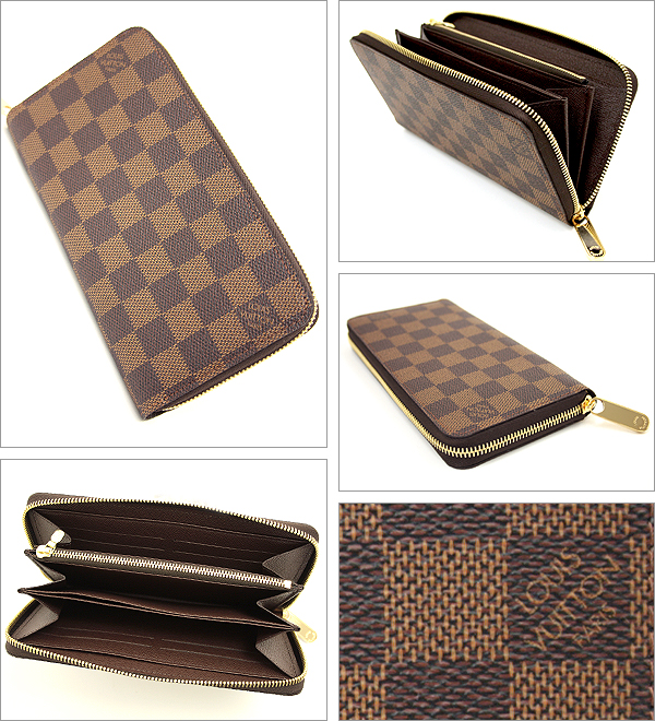Louis Vuitton wallets LOUIS VUITTON Vuitton wallet N60015 Damier zippy wallet round ZIP long wallet