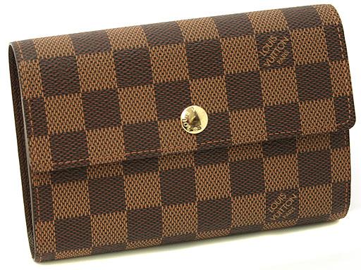 루이비통 지갑 LOUIS VUITTON 뷔 N60047 다 미에 ポルトフォイユアレクサンドラ 3 개 골절 지갑