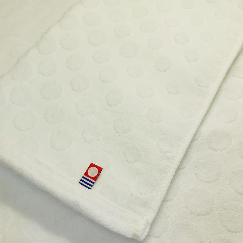 imabari towel japan しっかり仕立ての薄手 吸水 速乾ドット ホワイト 今治 フェイスタオル 34×80cm まとめ買い ドットホワイトフェイスタオル 10枚セット お見舞い 今治タオル 特価 水玉 [ギフト/プレゼント/ご褒美] セット 白