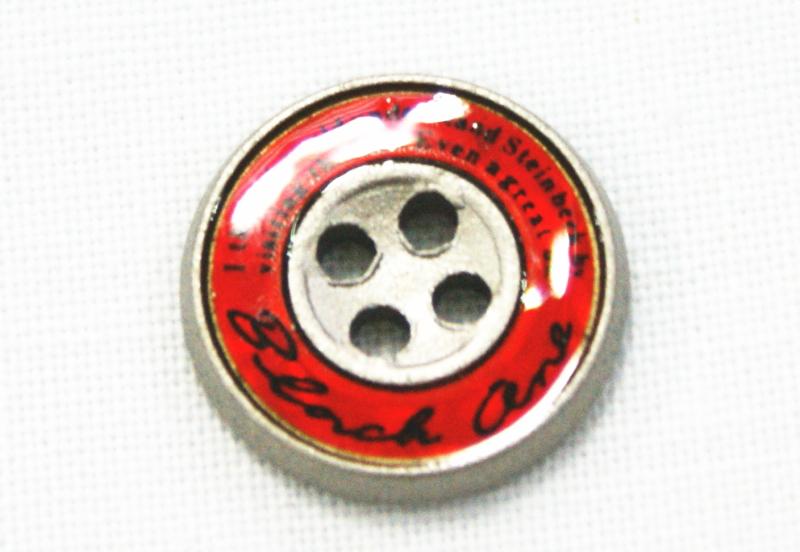学生ズボンボタン ピスボタン エポキ金属 バック:赤 デポー ☆メール便対応☆ 売店 ロゴ:黒
