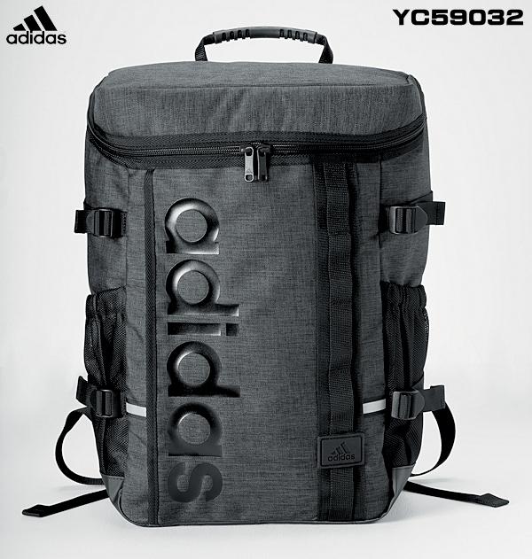 【adidas】スクェアデイパック(容量28L/チャコールグレー)教科書仕切付の多機能・毎年完売の人気リュック ★送料無料★