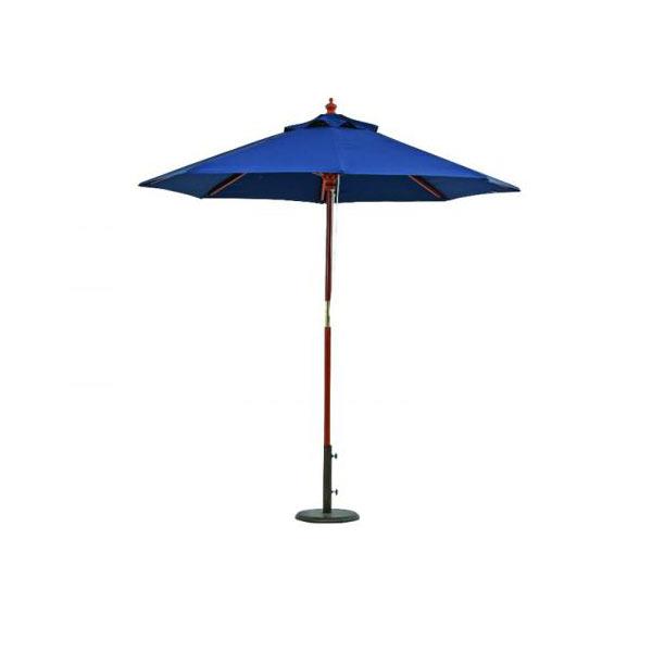木製パラソル★210cm★ブルー