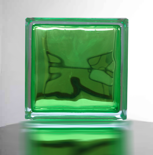 【スーパーセールでポイント最大44倍】【送料無料】ガラスブロックガラス(6個セット)190x190x95日本基準サイズ アップル グリーン