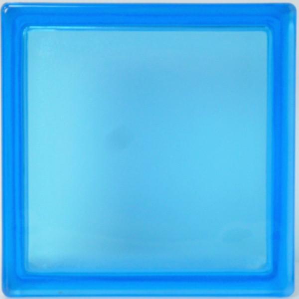【スーパーセールでポイント最大44倍】【送料無料】6個セット ガラスブロックガラス 国際基準サイズ 厚み80mmブルー青色 屋内専用