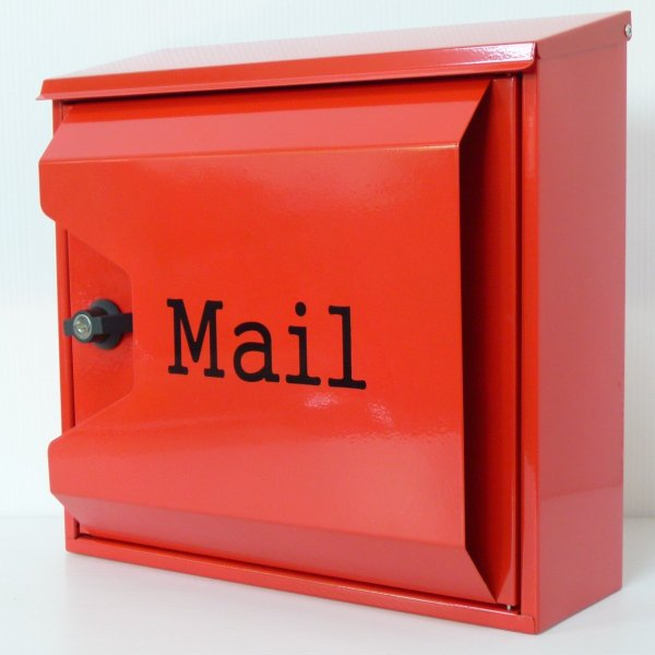【送料無料】郵便ポスト 郵便受け 錆びにくい メールボックス壁掛け赤色 ステンレスポスト(red)