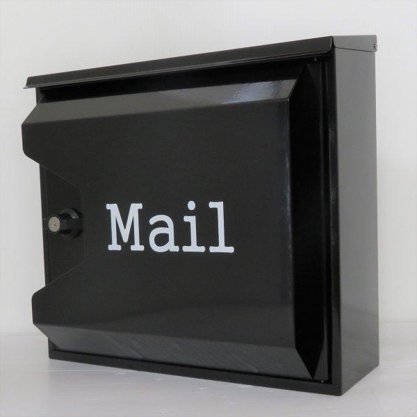 【送料無料】郵便ポスト 郵便受け 錆びにくい メールボックス壁掛け黒色 ステンレスポスト(black)