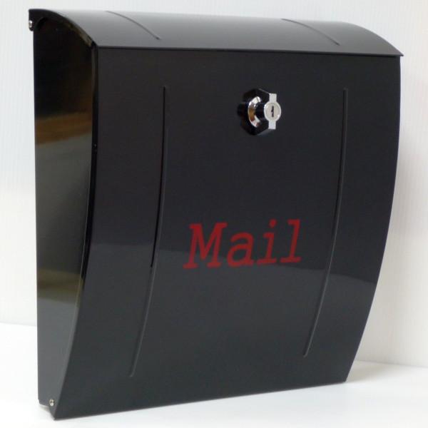 【送料無料】大容量 郵便ポスト 郵便受け 錆びにくい メールボックス壁掛け黒色 ステンレスポスト(black)