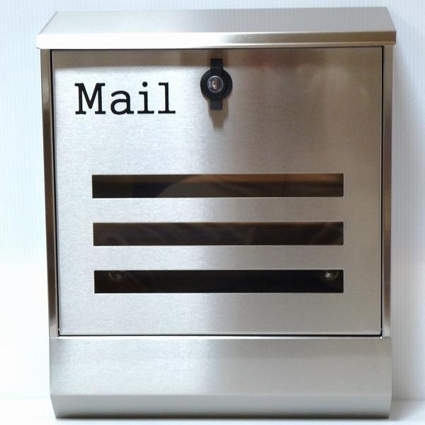 【送料無料】郵便ポスト 郵便受け 錆びにくい メールボックス壁掛けシルバー色 ステンレスポスト(silver)