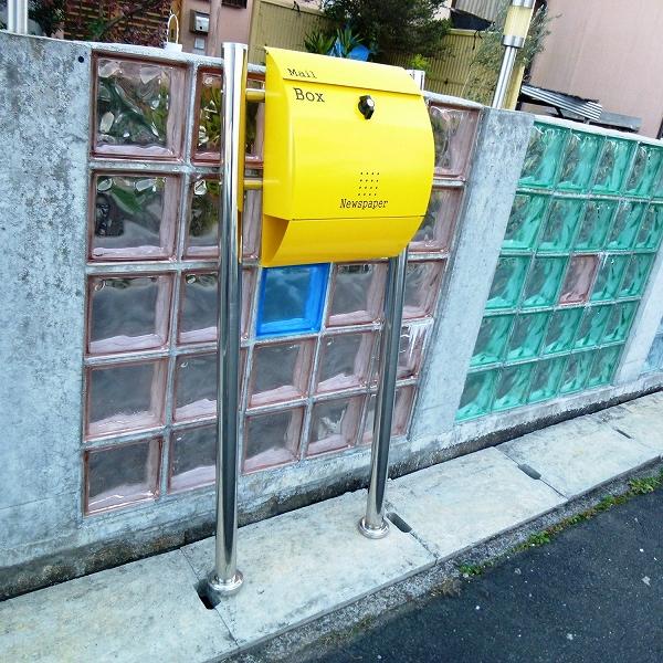 【送料無料】 郵便ポスト 錆びない 郵便受け メールボックス壁掛けブラック黒色 ステンレスポスト (black)