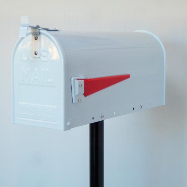 【バルセロナでポイント最大41倍】【送料無料】郵便ポスト 郵便受け USメールボックススタンドタイプお洒落なホワイト色ポスト(white)