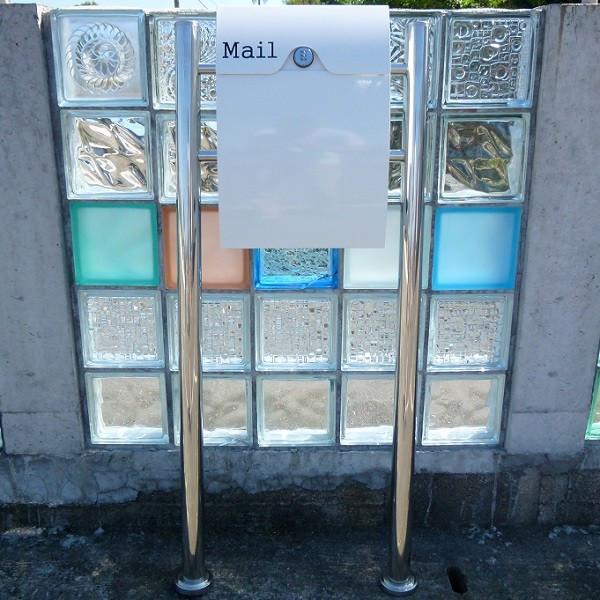 【送料無料】郵便ポスト郵便受けメールボックススタンドタイプ型ダイヤル錠付ホワイト白色プレミアムステンレスポスト(white)