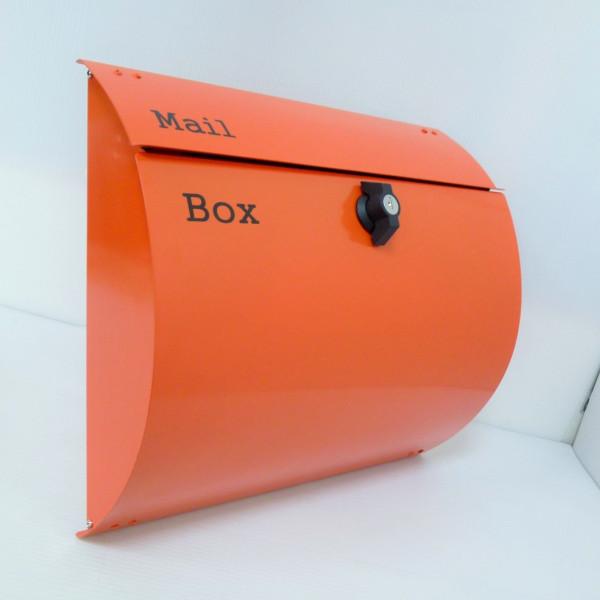 【送料無料】郵便ポスト郵便受けメールボックス壁掛けオレンジ色プレミアムステンレスポスト(orange)