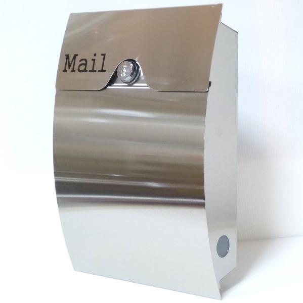 【送料無料】郵便ポスト 郵便受け 錆びにくい メールボックス壁掛けダイヤル錠付きシルバー色 ステンレスポスト(silver)