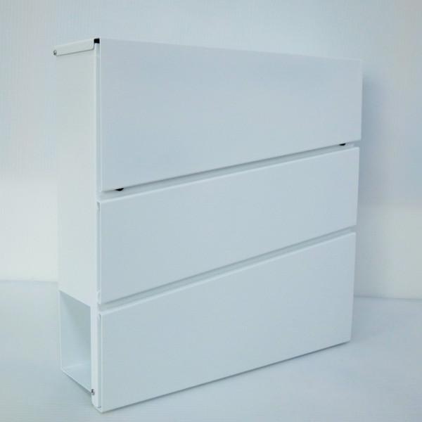 【送料無料】郵便ポスト郵便受けおしゃれかわいい人気北欧モダンデザイン大型メールボックス 壁掛け鍵付きマグネット付きホワイト白色ポスト(white)
