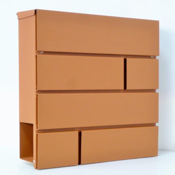 【送料無料】郵便ポスト郵便受けおしゃれかわいい人気北欧モダンデザイン大型メールボックス 壁掛け鍵付きマグネット付きブラウン茶色ポスト(brown)