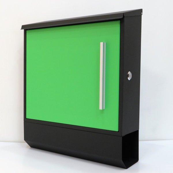 郵便ポスト郵便受けおしゃれ大型メールボックス 壁掛け鍵付マグネット付 グリーン 緑色ポスト
