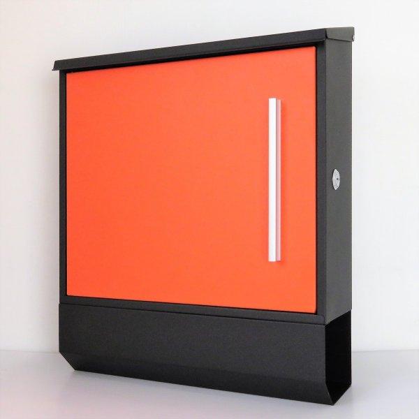 郵便ポスト郵便受けおしゃれ大型メールボックス 壁掛け鍵付マグネット付 オレンジ色 橙色ポスト