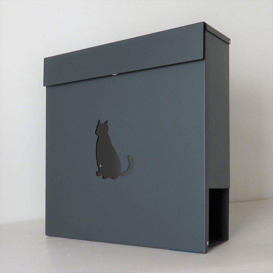 郵便ポスト 郵便受け おしゃれ 人気 大型 メールボックス 壁掛け 鍵付き マグネット付き グレー 灰色ポスト
