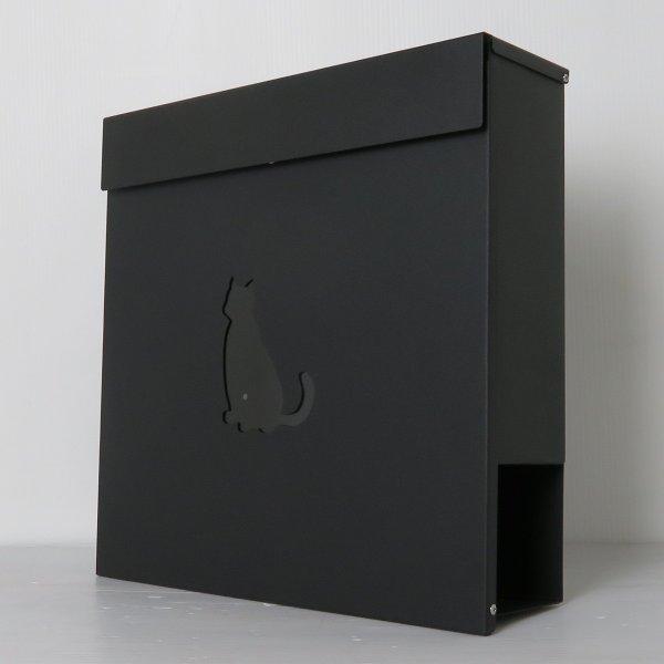 郵便ポスト 郵便受け おしゃれ 人気 大型 メールボックス 壁掛け 鍵付き マグネット付き ブラック 黒色ポスト