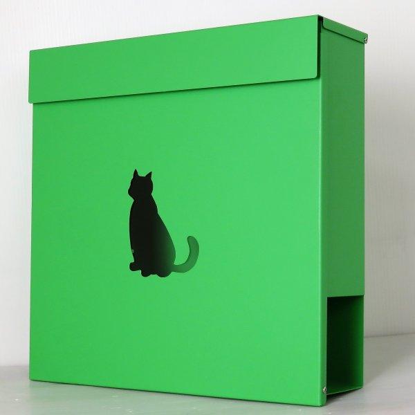 郵便ポスト 郵便受け おしゃれ 人気 大型 メールボックス 壁掛け 鍵付き マグネット付き グリーン 緑色ポスト